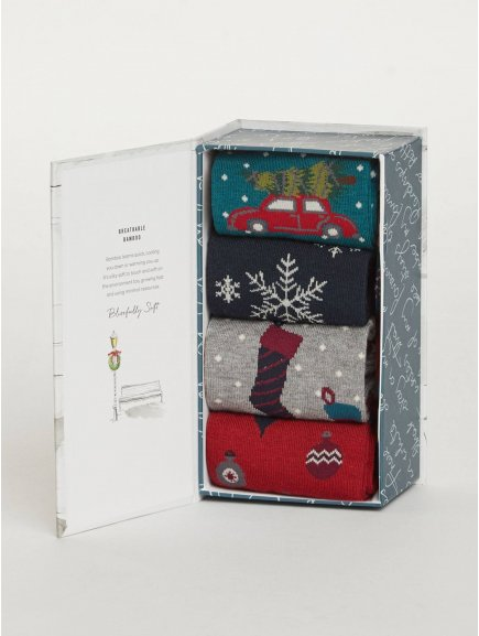 sbm christmas eve christmas eve bamboo sock gift box for men 1 1 (1)