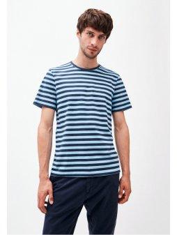 """Pánské pruhované tričko """"JAAMES BRETON"""" - modrá/navy"""
