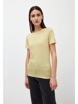 """Dámské pruhované tričko z biobavlny """"Lidaa Ring Stripes Lime/Kitt"""""""