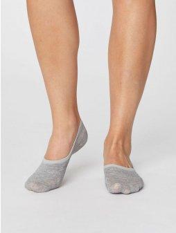 sbw4215 mid grey marle womens no show invisible bamboo socks 2