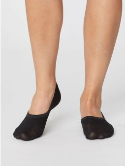 sbw4215 black womens no show invisible bamboo socks 2