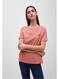 "Dámské růžové tričko z biobavlny ""NAALIN LITTLE SUNRISE"""