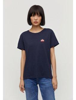 """Dámské modré tričko z biobavlny """"NAALIN LITTLE SUNRISE"""""""