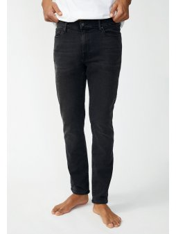"Pánské černé džíny z biobavlny ""IAAN x STRETCH black washed"""