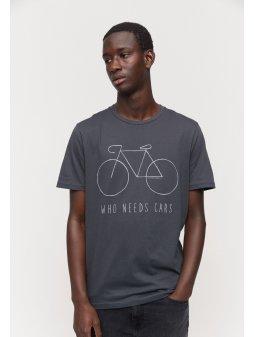 """Pánské šedé tričko """"JAAMES CITY BIKE"""""""