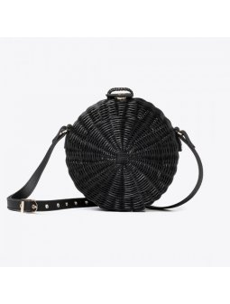 vegan crueltyfree bag straw black italian
