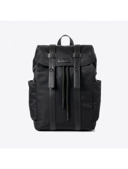 backpack vegan recycled nylon black italian crueltyfree