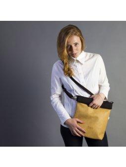 TEA BAG světle hnědá upcyklovaná kabelka – větší