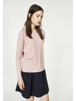 """Dámský růžový svetřík """"Ekin Dots"""""""