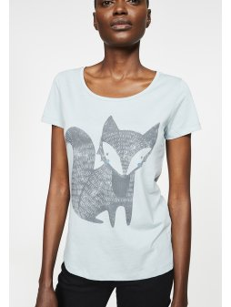 """Dámské modro-zelenkavé tričko """"Mari Fox"""""""