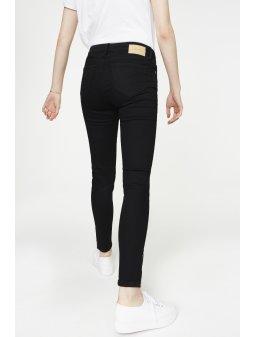 """Dámské černé džíny se zipem z biobavlny """"Tilly Cropped"""""""