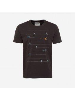"""Pánské tmavě šedé tričko """"James Birds Online"""""""