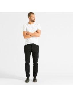 """Pánské černé chino kalhoty z biobavlny """"Brandon"""