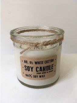"""Svíčka ze sojového vosku """"Čisté prádlo"""" (válec 150g)"""