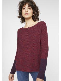 """Dámský melírovaný vínový svetr z biobavlny """"Kalea"""""""