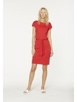 """Dámské červené šaty z biobavlny """"Alada"""""""