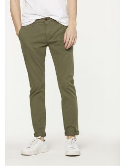 "Pánské khaki chino kalhoty z biobavlny ""Brandon"""