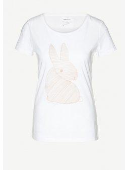 """Dámské bílé tričko """"Mari Bunny"""""""