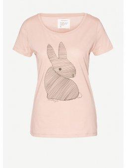 "Dámské broskvové tričko ""Mari Bunny"""