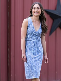 dress deliawrap steelblue m