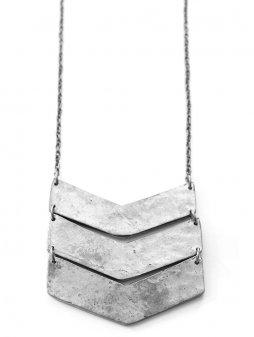 necklace chevron silver2