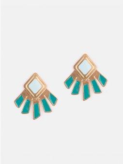 earrings kizette teal