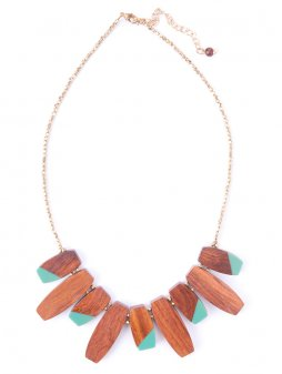 necklace colorblock teal