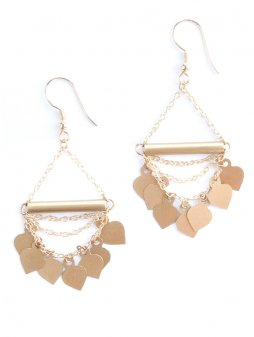 earrings chainofspades gold
