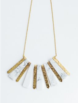 necklace marbledrays white