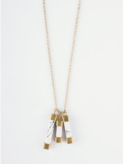necklace marbledcharm white