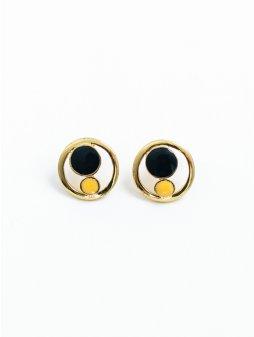 earrings orbstuds black