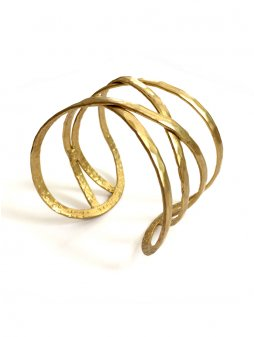 bracelet criss crosscuff gold