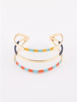 bracelet threadedtrio gold