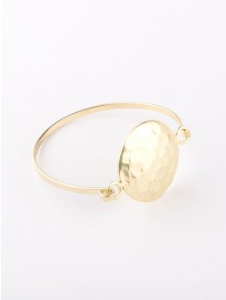 bracelet hammereddisc gold