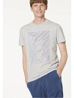 """Pánské světle šedé tričko """"James Geo Lines"""""""