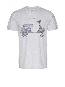 """Pánské světle šedé tričko """"James Easy Rider"""""""
