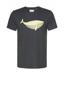 """Pánské šedé tričko """"James Big Whale"""""""