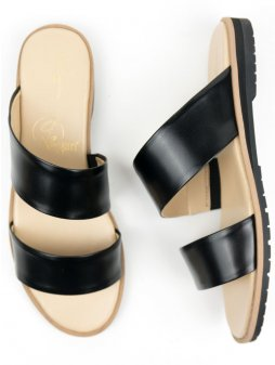 two strap sandal black 2