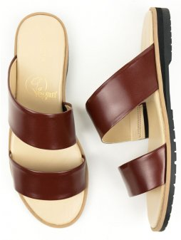 two strap sandal brown 2