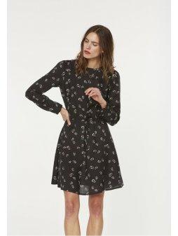 """419f1608d960 Dámské černé šaty """"Derya Small Pepper Rose"""""""