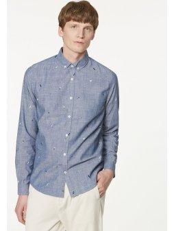 """Pánská košile s potiskem z biobavlny """"Quinn Geo Minimal"""""""