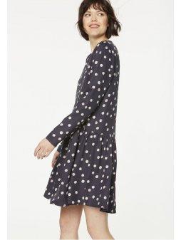 """Dámské modré šaty s bílými tečkami """"Enda Bubble Dots"""""""