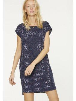 """Dámské modré šaty s puntíky """"Hila Dotted Garden"""""""