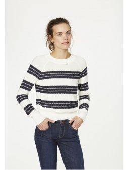 """Dámský proužkatý svetr """"Midori Stripes"""""""