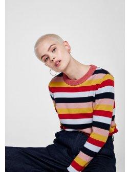 """Dámský proužkatý svetřík """"Oxana Multistripes"""""""