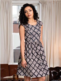 dress chilmark blackwhite m