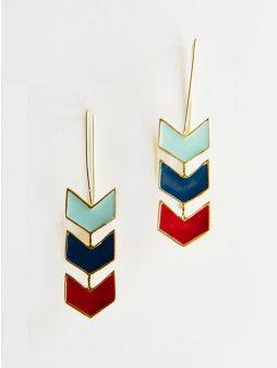 earrings chevronhook bluemulti