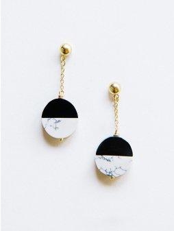 earrings novastuds black
