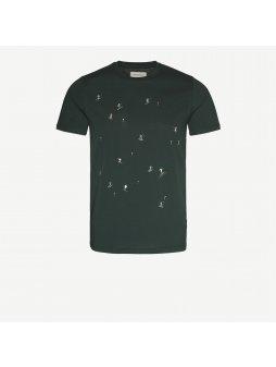 "Pánské zelené tričko ""James Skiers"""