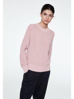 """Dámský růžový svetr z biobavlny """"Midori"""""""